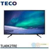 配送不安裝/不含視訊盒*元元家電館*TECO 東元 40型HD低藍光顯示器 TL40K2TRE