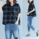 襯衫【Q40】FEELNET中大尺碼女裝...