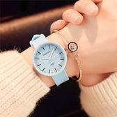 學生手錶韓版小清新 可愛兒童女生初中小學生簡約百搭硅膠果凍MJBL