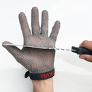 法國304鋼環焊接防割手套鋼絲防切割刀割金屬不銹鋼鎖子甲鐵手套 小山好物