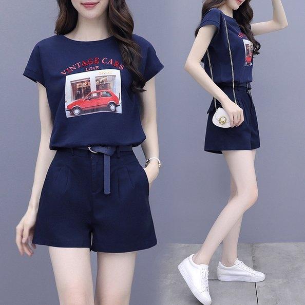 套裝上衣短褲S-2XL網紅時尚洋氣減齡氣質小個子職業兩件套H430.9703皇潮天下