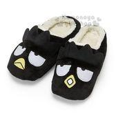 〔小禮堂〕酷企鵝 造型全包式絨毛室內鞋《黑.大臉》絨毛拖.2018溫暖禦冬系列 4901610-86207