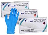 【醫康生活家】e-CARE 醫康NBR無粉手套 藍色3.5g S/M/L