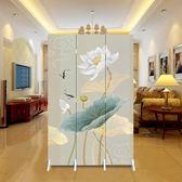屏風 中式屏風隔斷時尚現代客廳行動簡約摺疊臥室酒店玄關摺屏小戶型ATF 探索先鋒