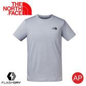 【The North Face 男 排汗短袖T恤《淺灰》】3V8R/FlashDry/排汗快乾/運動衣/圓領衣/休閒衣