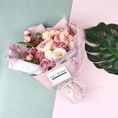 香皂花 玫瑰花束情人節禮物送女生的香皂花禮盒生日浪漫創意高檔