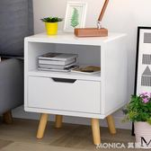 床頭柜歐式簡約儲物柜簡易床頭邊柜小柜子臥室現代創意斗柜 莫妮卡小屋 IGO