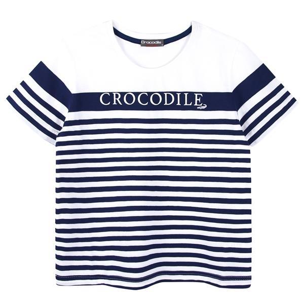 『小鱷魚童裝』條紋圓領上衣(08號~18號)535402