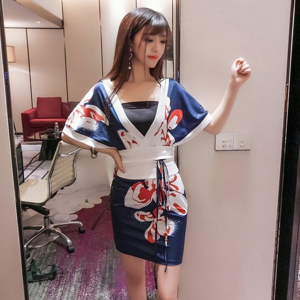 日本和服女連身裙短款夜店性感cos服 莎瓦迪卡
