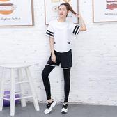 2018春夏新款大碼瑜伽服胖mm寬鬆套裝專業運動跑步速干健身服女潮【快速出貨八折優惠】