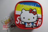 Hello Kitty 凱蒂貓 世足 方型零錢包 紅色 KRT-262474
