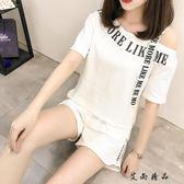 夏裝時尚韓版露肩一字領短袖-艾尚精品 艾尚精品