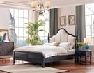 [紅蘋果傢俱] SA108 新美式鄉村風 床組 六尺床 床架 床台 雙人床 多功能櫃 床頭櫃 工廠直營