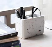 AHDE可愛ins筆筒創意時尚韓國小清新筆筒北歐仿大理石桌面收納吾本良品