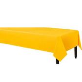 塑膠長桌巾-日光黃