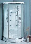 【麗室衛浴】小木屋、民宿最愛,圓弧型整體淋浴室  100*100高215 含淋浴設備 HC-018