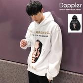 Doppler 帽T 美式貼布造型刷毛保暖連帽T恤 長袖上衣 現貨+預購 【TJ6012】