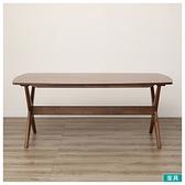 ◎木質餐桌 RELAX160 WN-MBR NITORI宜得利家居