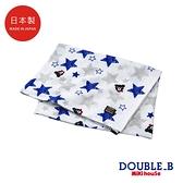 DOUBLE_B 日本製 黑熊星星圖案圖案紗布浴巾