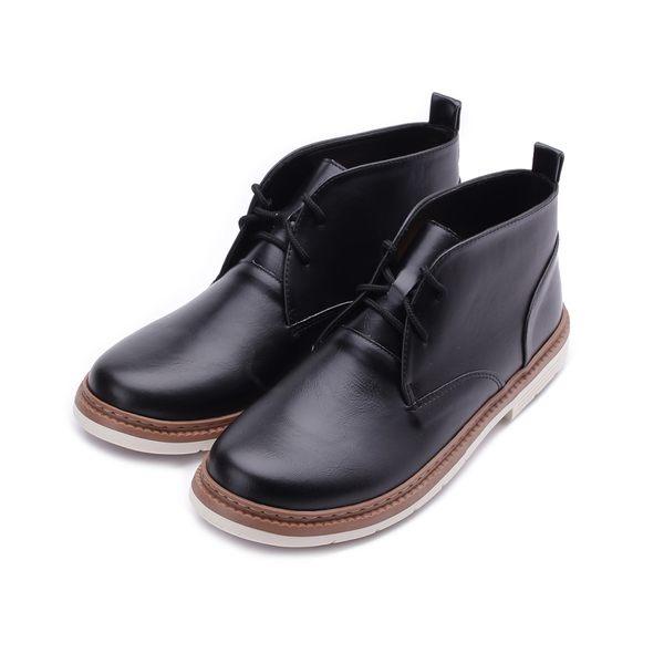 SARTORI 半高筒合皮休閒鞋 黑 男鞋 鞋全家福