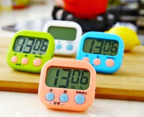 大螢幕電子倒 計時器/電子定時器/定時提醒器 液晶 顏色隨機【4G手機】