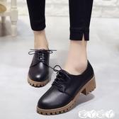 牛津鞋 小皮鞋女學生韓版百搭英倫復古時尚單鞋粗跟高跟女鞋新品新年禮物