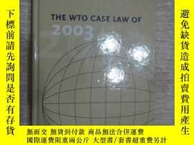 二手書博民逛書店the罕見wto case law of 2003 世貿判例法(