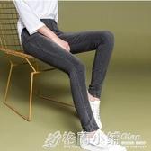 窄管褲 牛仔長褲女新款鬆緊高腰修身顯瘦彈力大碼胖mm緊身小腳潮 萬聖節鉅惠