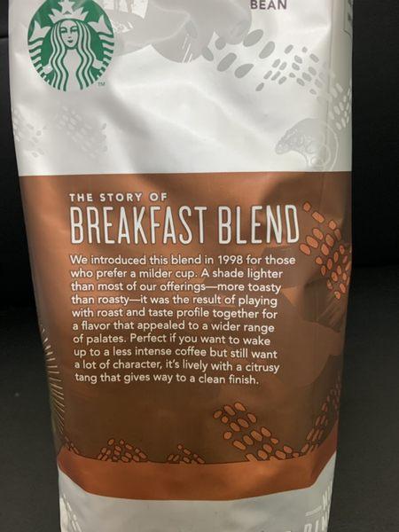 好市多 STARBUCKS 早餐綜合咖啡豆 1.13kg 星巴克 咖啡 沖泡 咖啡豆 烘焙豆