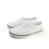 native MILES 懶人鞋 洞洞鞋 防水 雨天 白色 中童 童鞋 12104600-1999 no667