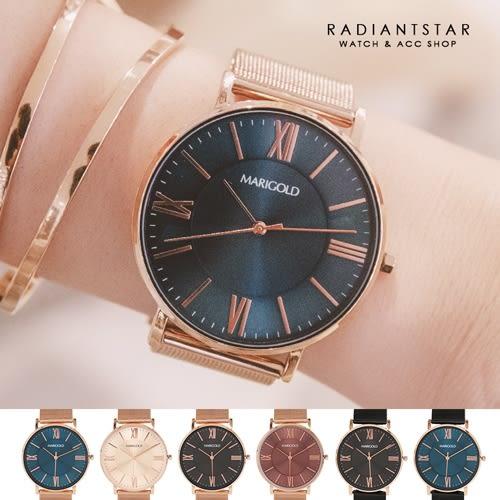 正韓MARIGLD剛剛好的喜歡米蘭金屬鍊帶手錶對錶單支閨蜜禮【WMD0478】璀璨之星☆