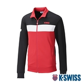 K-SWISS KS Logo Jacket運動外套-男-黑/紅