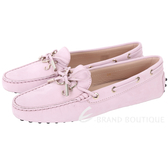 TOD'S Gommino 新版字母磨砂牛皮休閒豆豆鞋(女鞋/玫瑰粉) 1820292-47