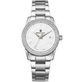 【BENTLEY】賓利 Classic系列 典藏簡約奢華女錶 (白/銀 BL1615-2020002)