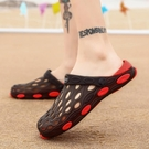 海灘鞋 洞洞鞋男室內外防滑休閒沙灘鞋2021新款夏季涼鞋男潮百搭涼拖兩用