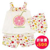 【愛的世界】水果圖樣肩帶套裝/4~6歲-台灣製- ★春夏洋裝套裝