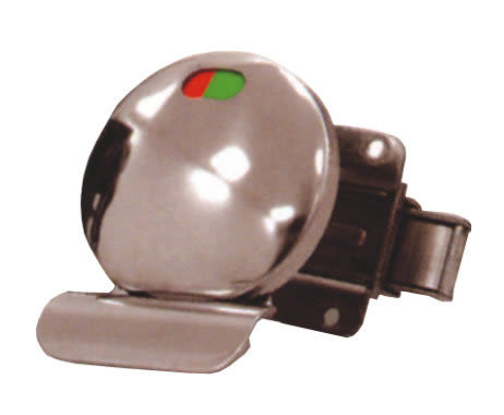 指示鎖LA-10-8 不銹鋼浴廁門閂 紅綠顏色表示開關 橫拉門 安全鎖