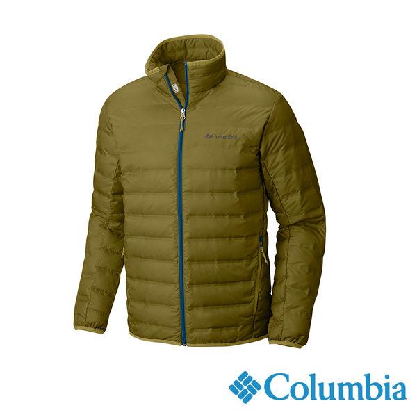 Columbia 男 無縫650羽絨外套-橄欖綠 【GO WILD】