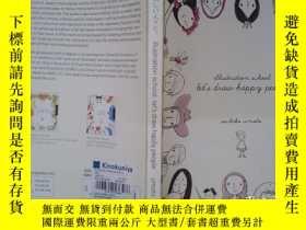 二手書博民逛書店illustration罕見school: let s draw happy people(詳見圖)Y6583