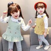 黑五好物節★春秋新款1一2-3歲女寶寶韓版休閒套裝嬰兒秋季三件套女童裝潮