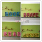 書架 創意字母書架壁掛收納架落地鐵藝展示架幼兒園數字英文定制書架櫃 數碼人生