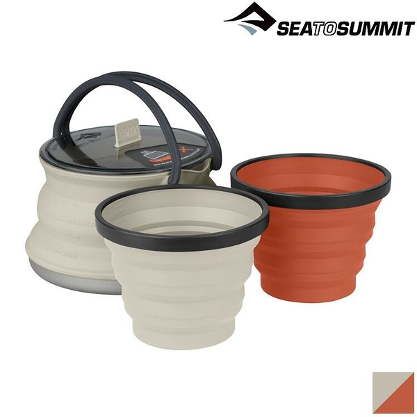 『VENUM旗艦店』Sea to Summit X-Set 11 X-摺疊餐具組11號 (1.3L壺、2杯) STSAXSETSS11