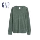 Gap男裝活力亮色圓領套頭針織上衣514653-淺綠色