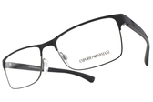 EMPORIO ARMANI光學眼鏡 EA1052 3155 (霧深藍-槍黑) 經典LOGO百搭方框款 # 金橘眼鏡