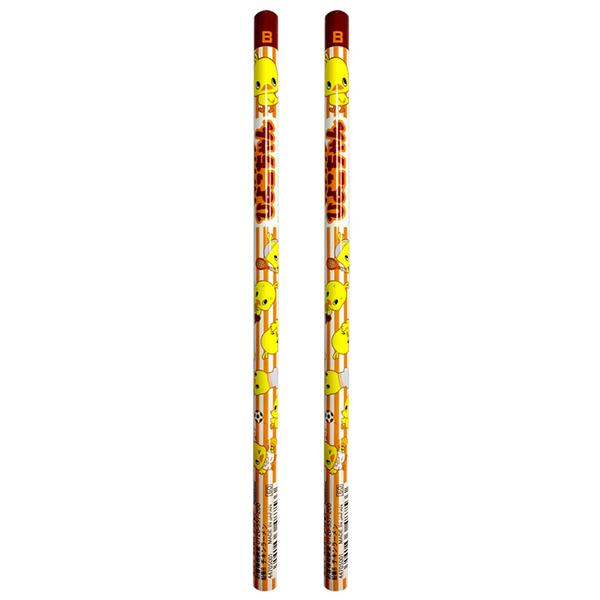 【日本正版】日清小雞 B鉛筆 2入組 日本製 鉛筆 圓軸鉛筆 日清食品 - 487533