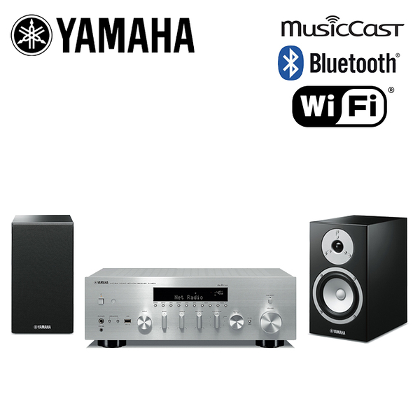YAMAHA 山葉 R-N803 + NS-BP301 網路、藍牙功能 二聲道音響組合【公司貨保固+免運】