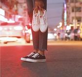 帆布鞋女運動小白鞋春季2019新款百搭韓版黑色板鞋子1992布鞋Mandyc