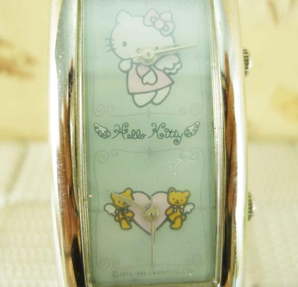【震撼精品百貨】Hello Kitty 凱蒂貓~手錶-雙時間-天使白【共1款】