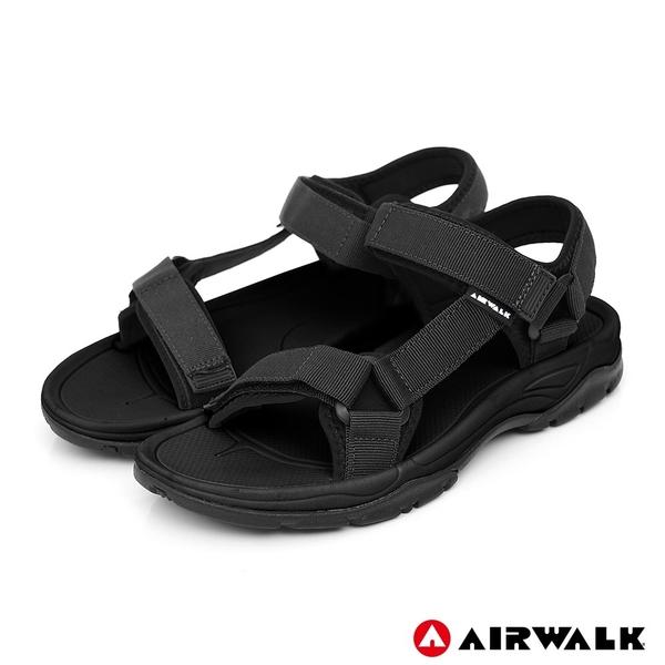 【AIRWALK】Y字造型休閒涼鞋-男款-黑