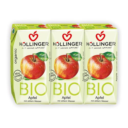 荷林阿爾卑斯有機蘋果汁(3入/組)